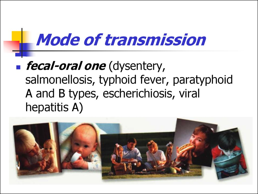 Mode of transmission of viral diseases-1868