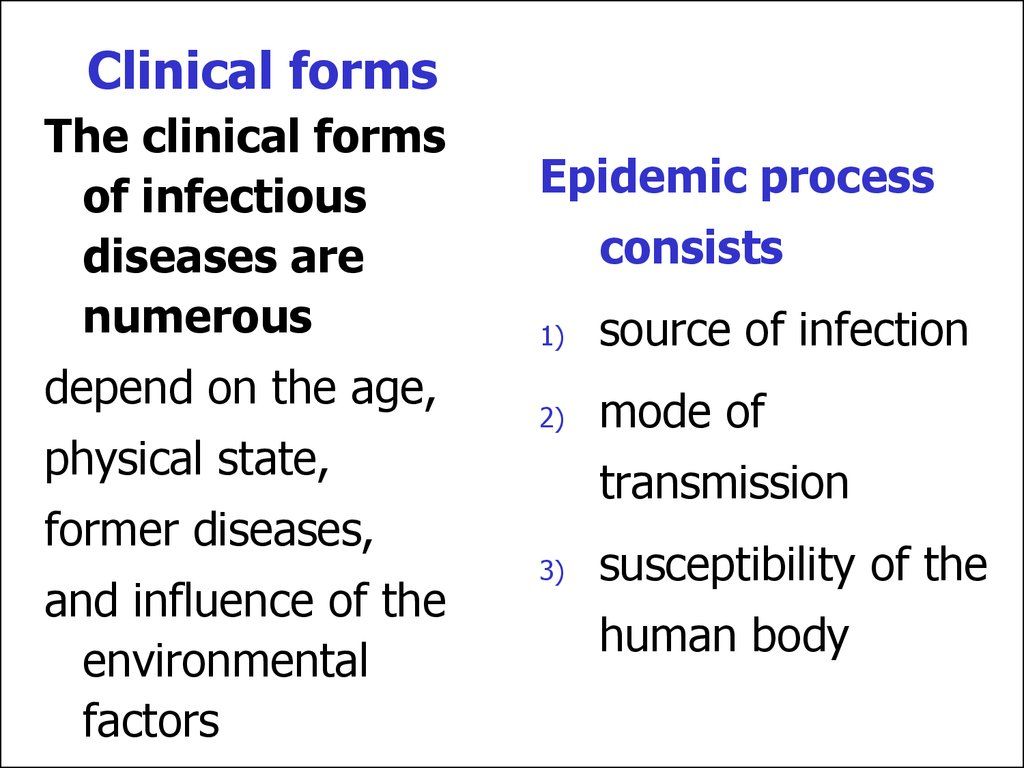 Clinical forms