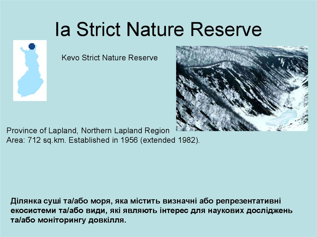 Ia Strict Nature Reserve
