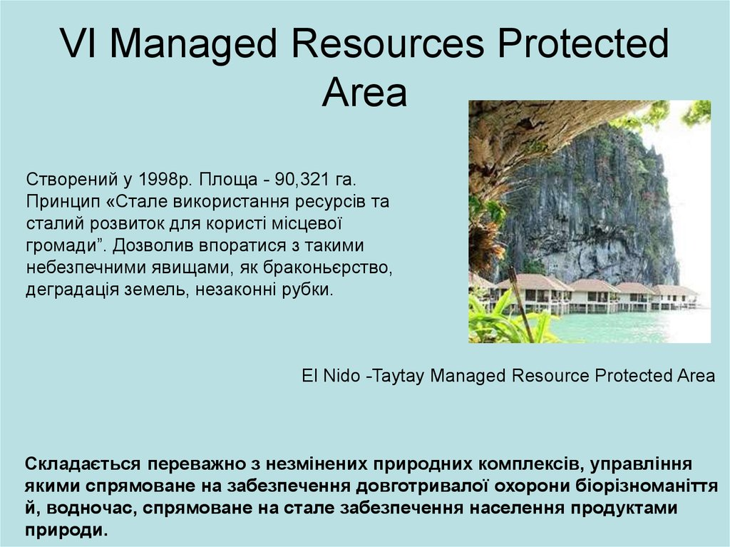 VI Managed Resources Protected Area