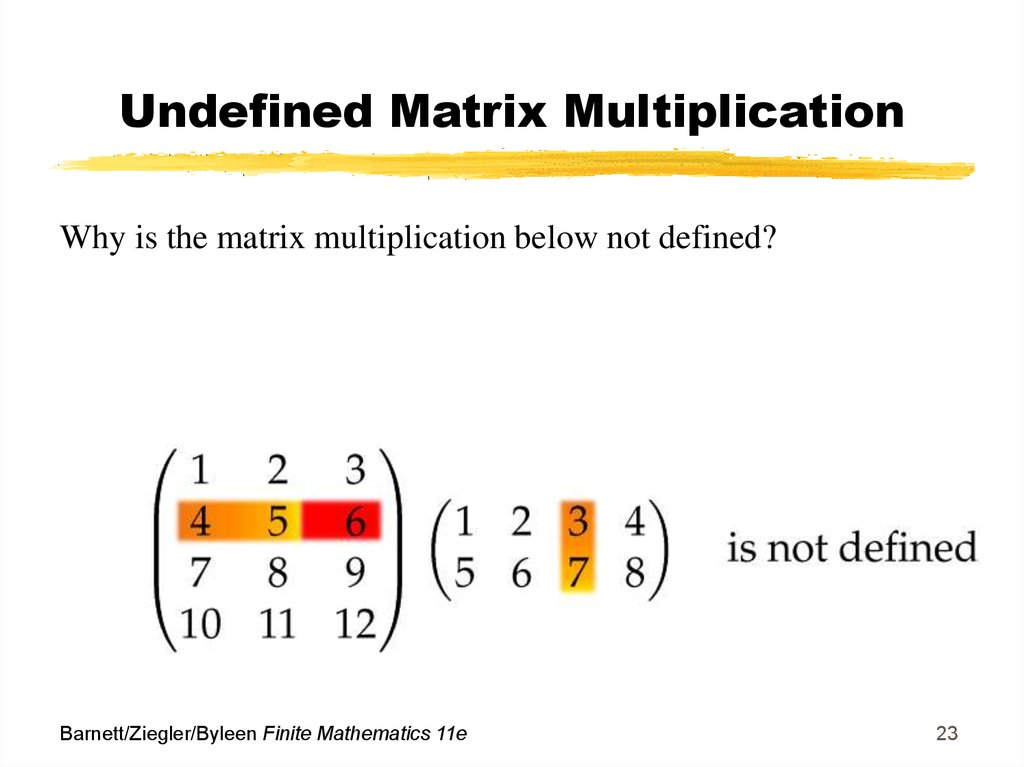 Undefined Matrix Multiplication