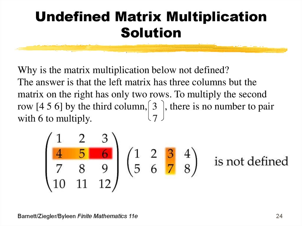 Undefined Matrix Multiplication Solution