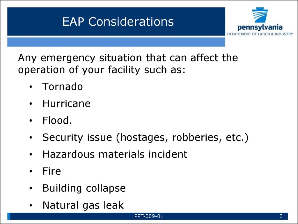 EAP Considerations