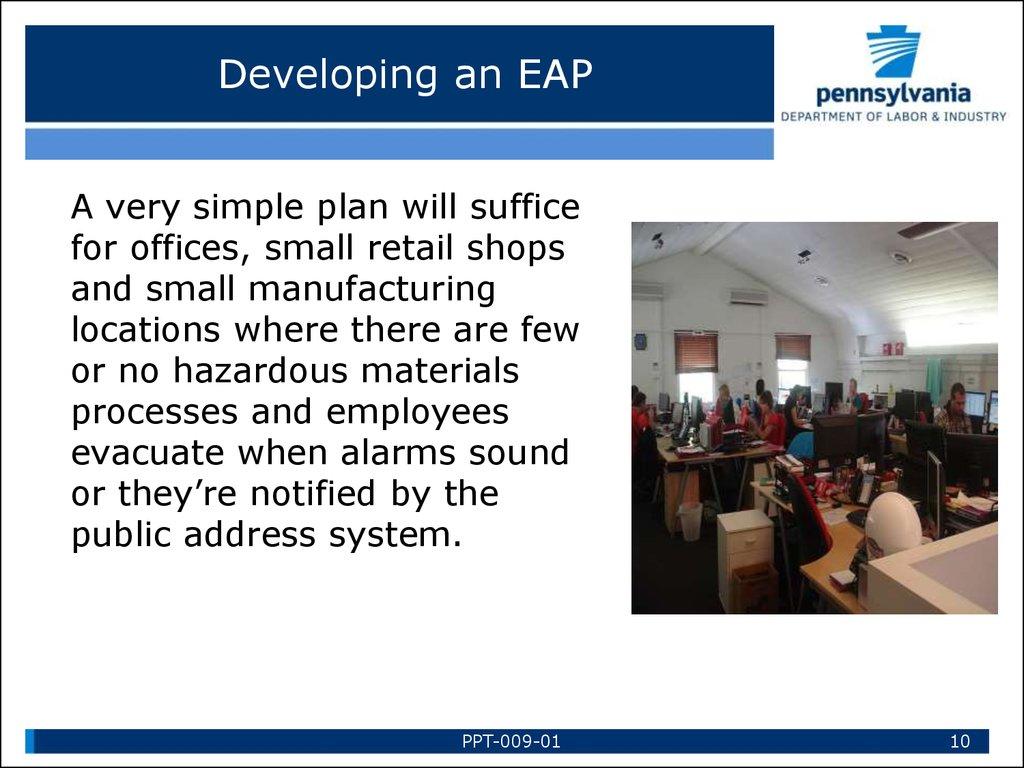 Emergency Action Plans Online Presentation