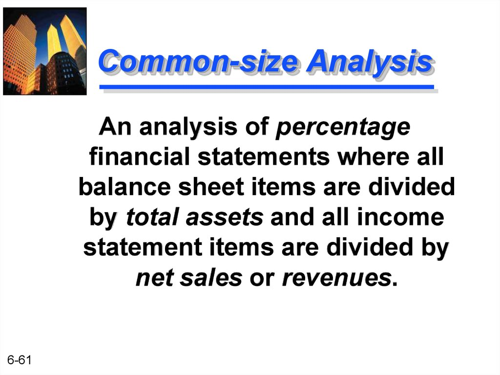 Common-size Analysis