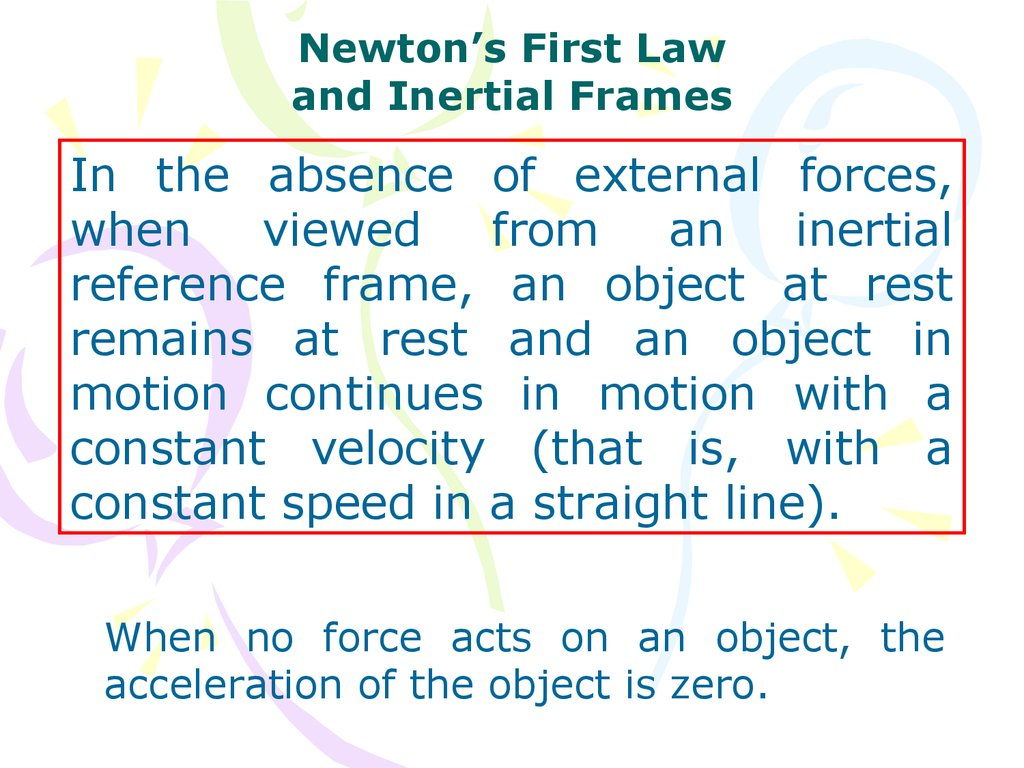 Quick Quiz Online Presentation External Forces That Act On An Object As A Result Of Its Newtons First Law And Inertial Frames In The Absence When Viewed From Reference Frame At Rest