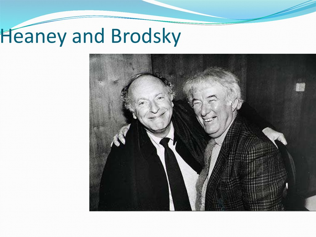 Heaney and Brodsky