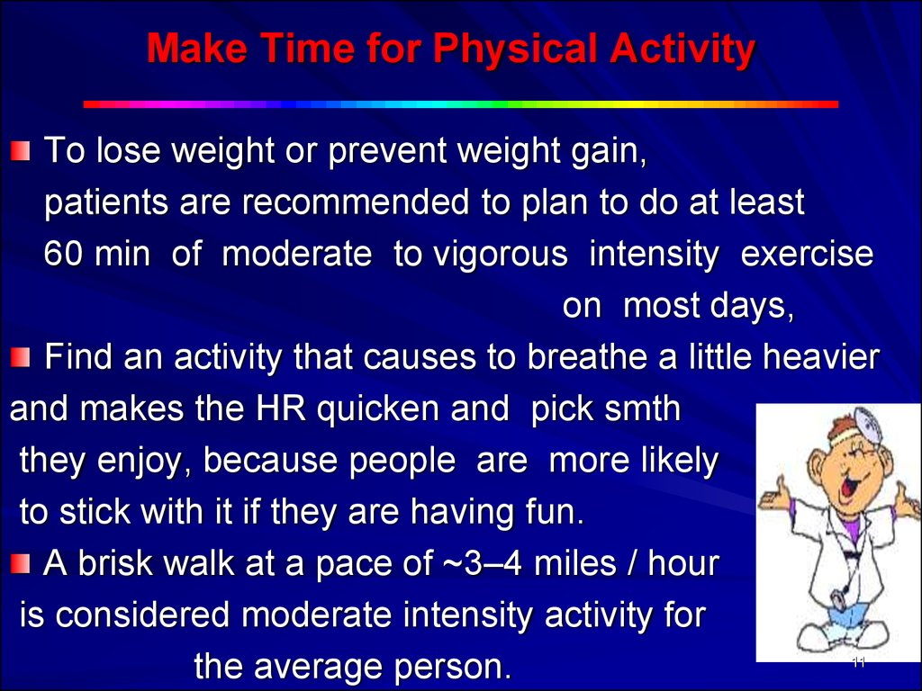 Make Time for Physical Activity