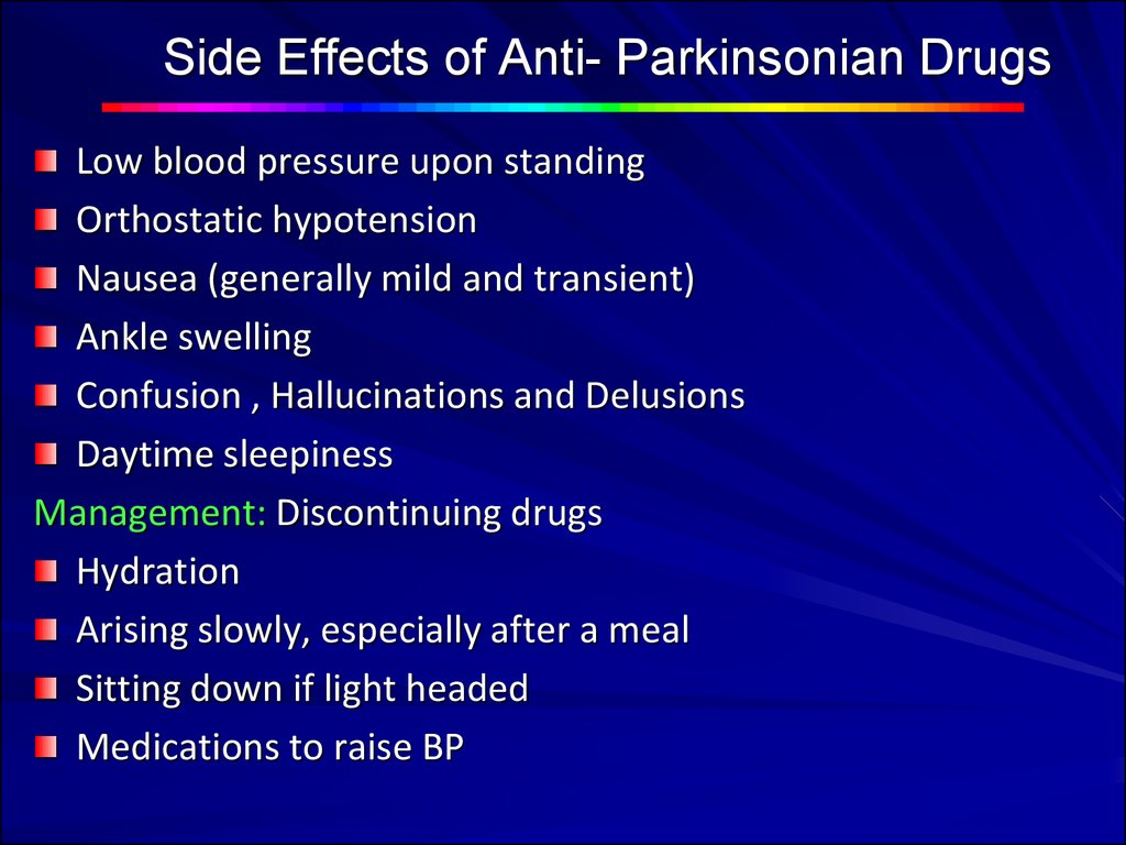 Side effects of drugs used for the treatment of the