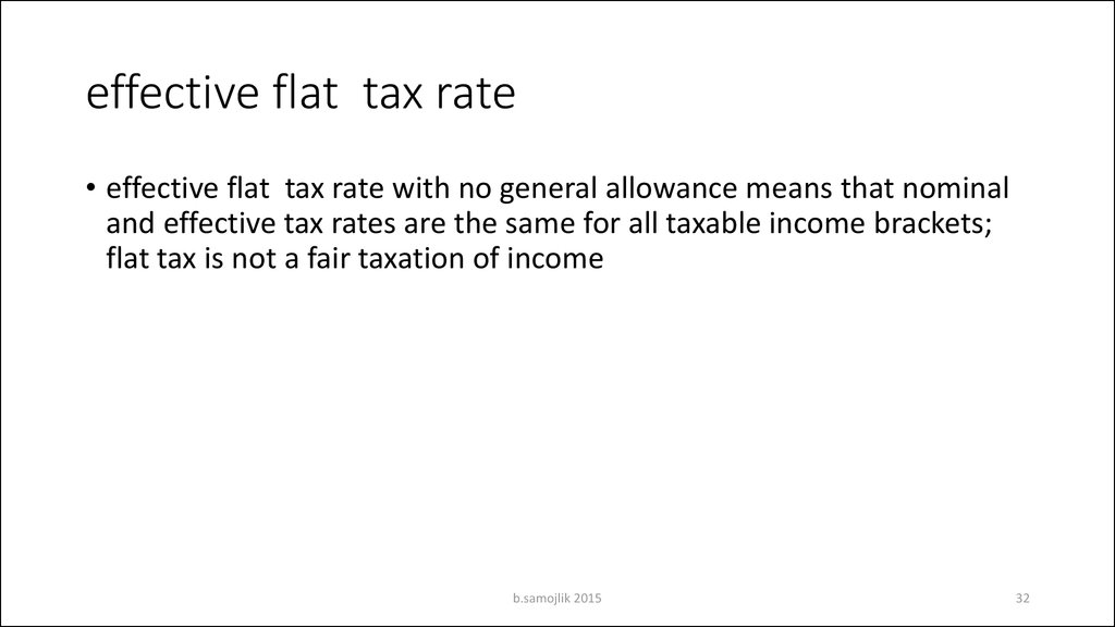 effective flat tax rate
