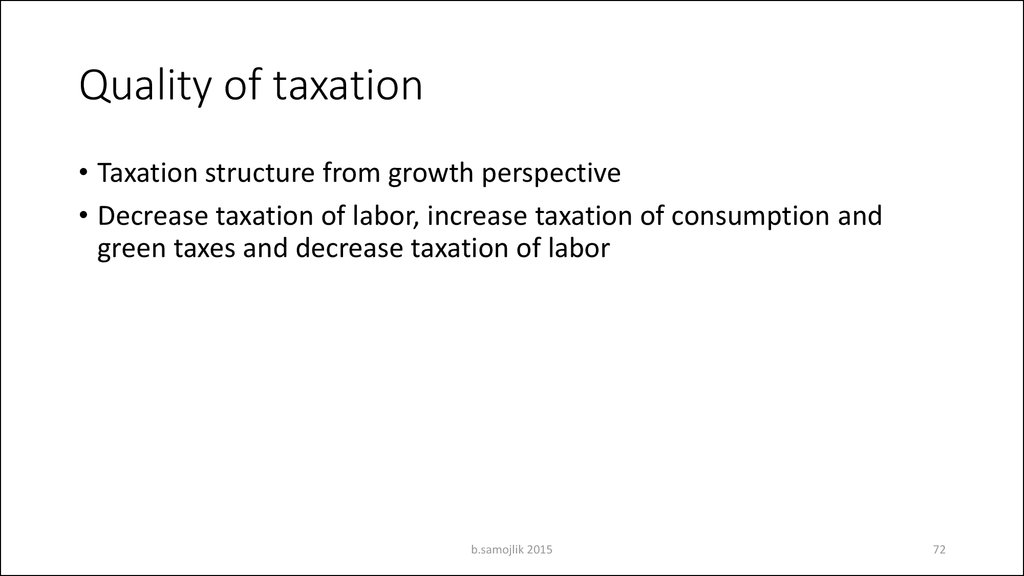 Quality of taxation