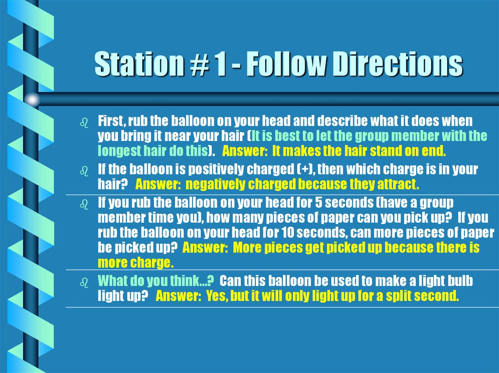 Station # 1 - Follow Directions