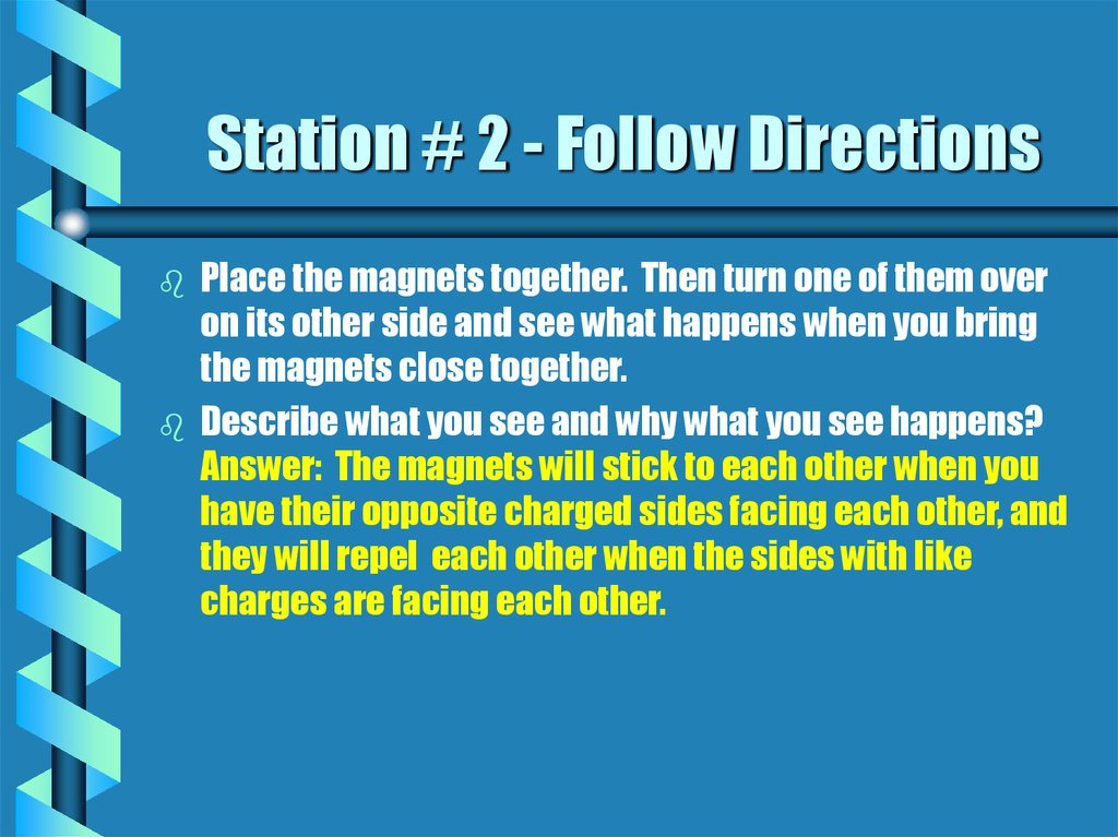 Station # 2 - Follow Directions