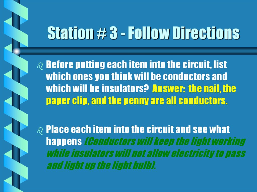 Station # 3 - Follow Directions