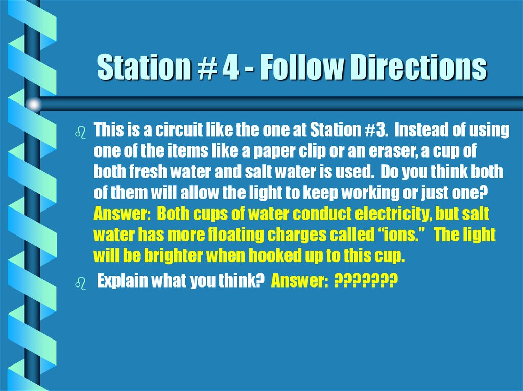 Station # 4 - Follow Directions