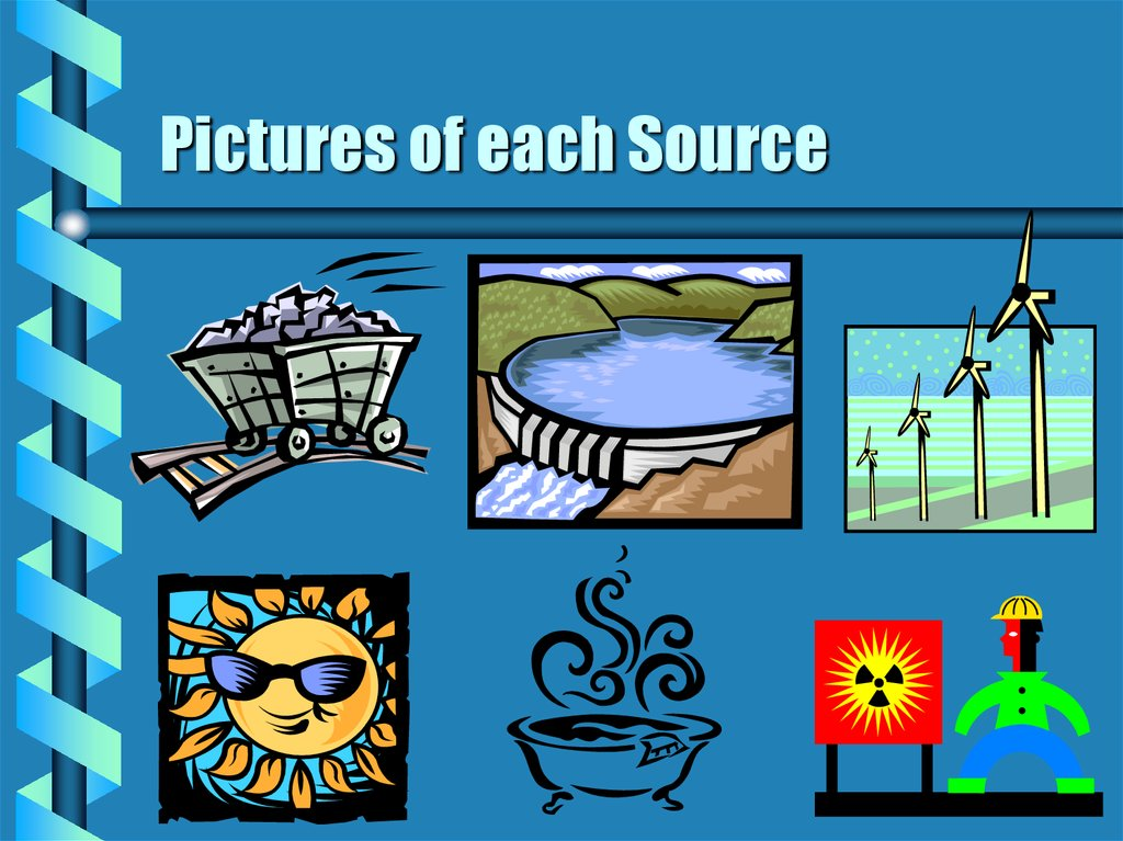 Pictures of each Source