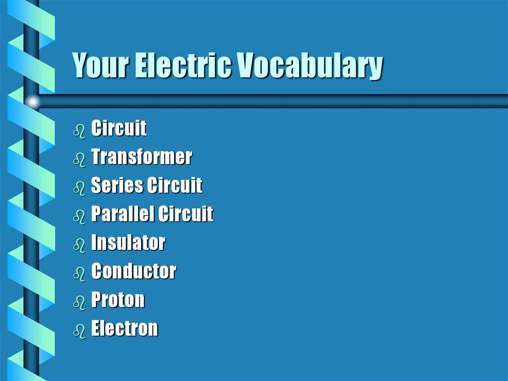 Your Electric Vocabulary