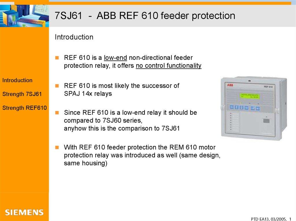 Abb Rem 543 Relay manual pdf