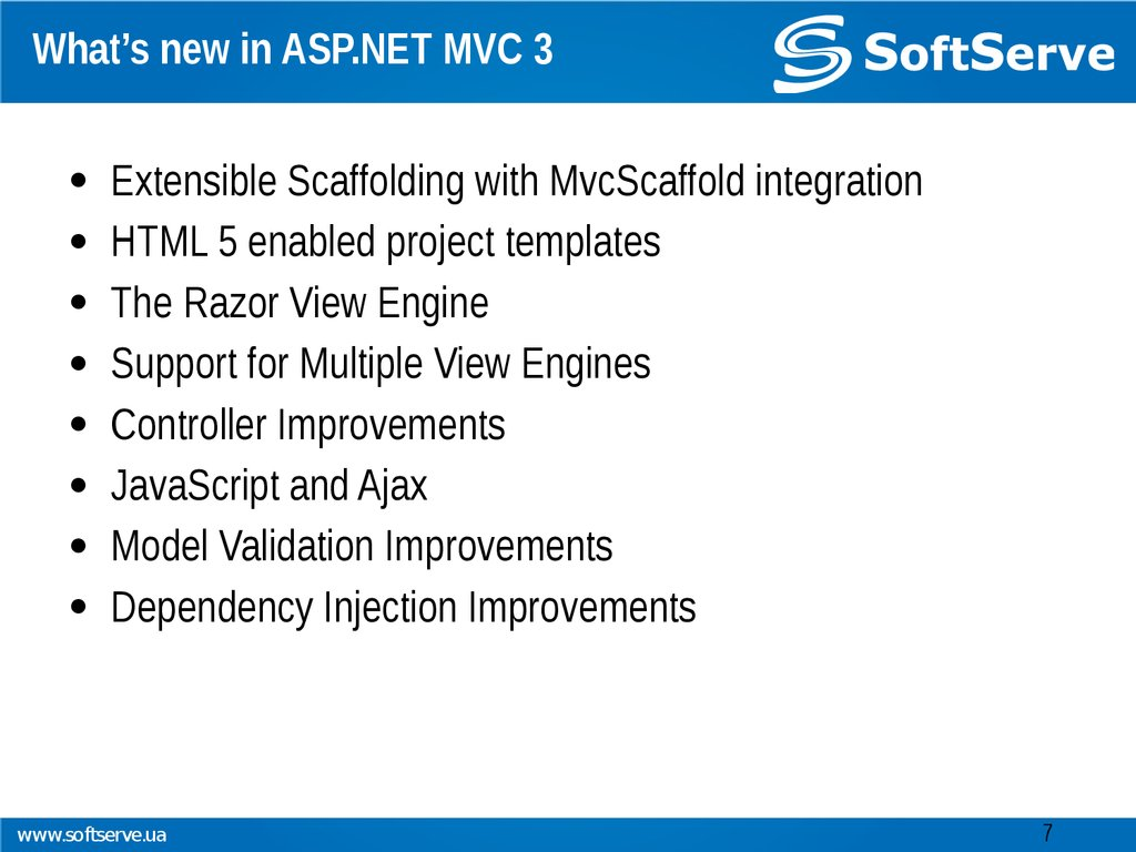 What's new in ASP.NET MVC 3