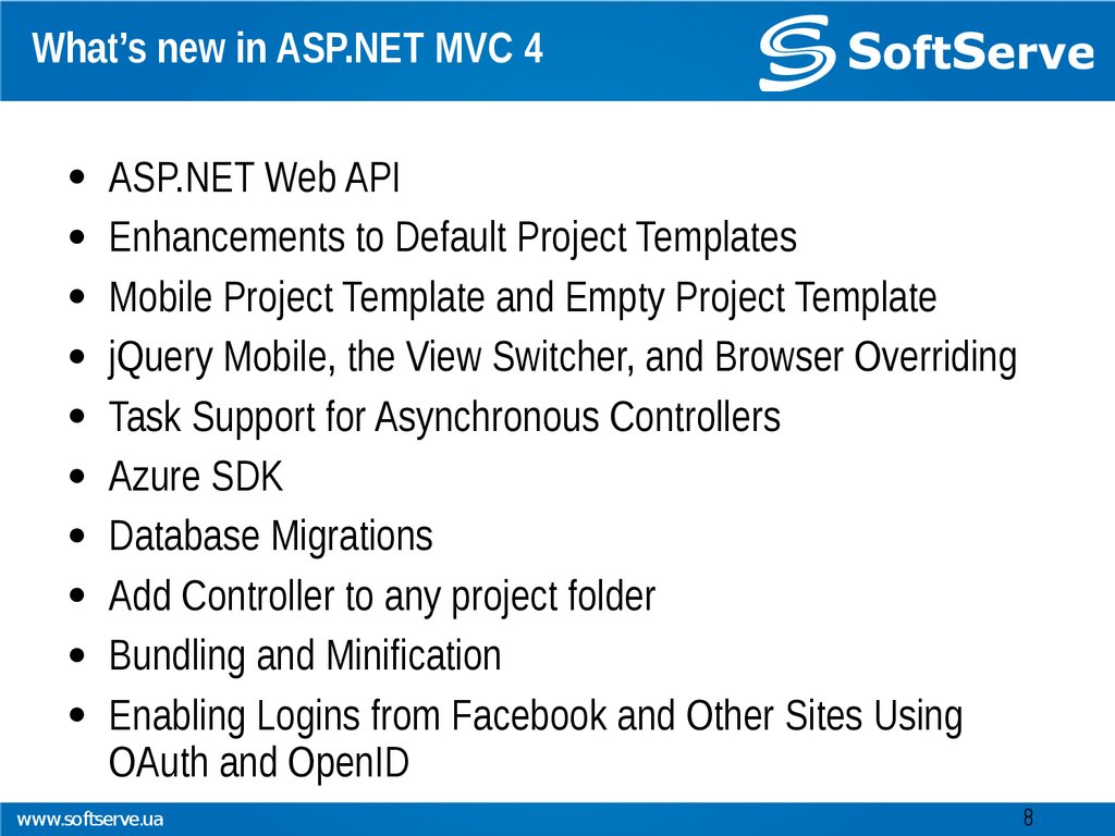What's new in ASP.NET MVC 4