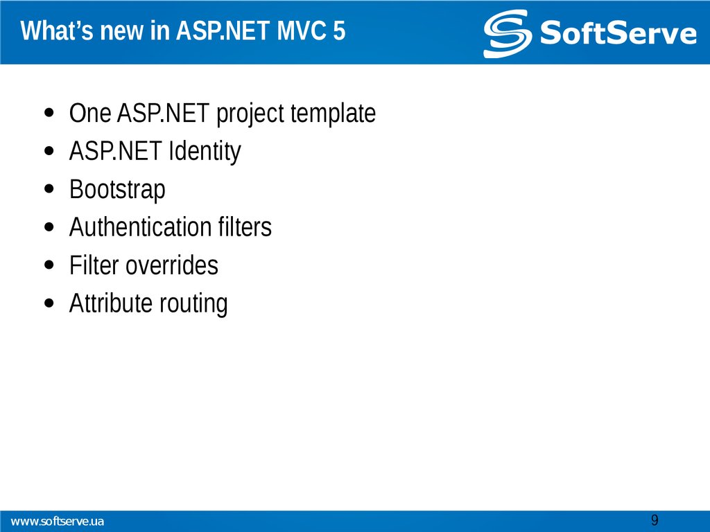 What's new in ASP.NET MVC 5