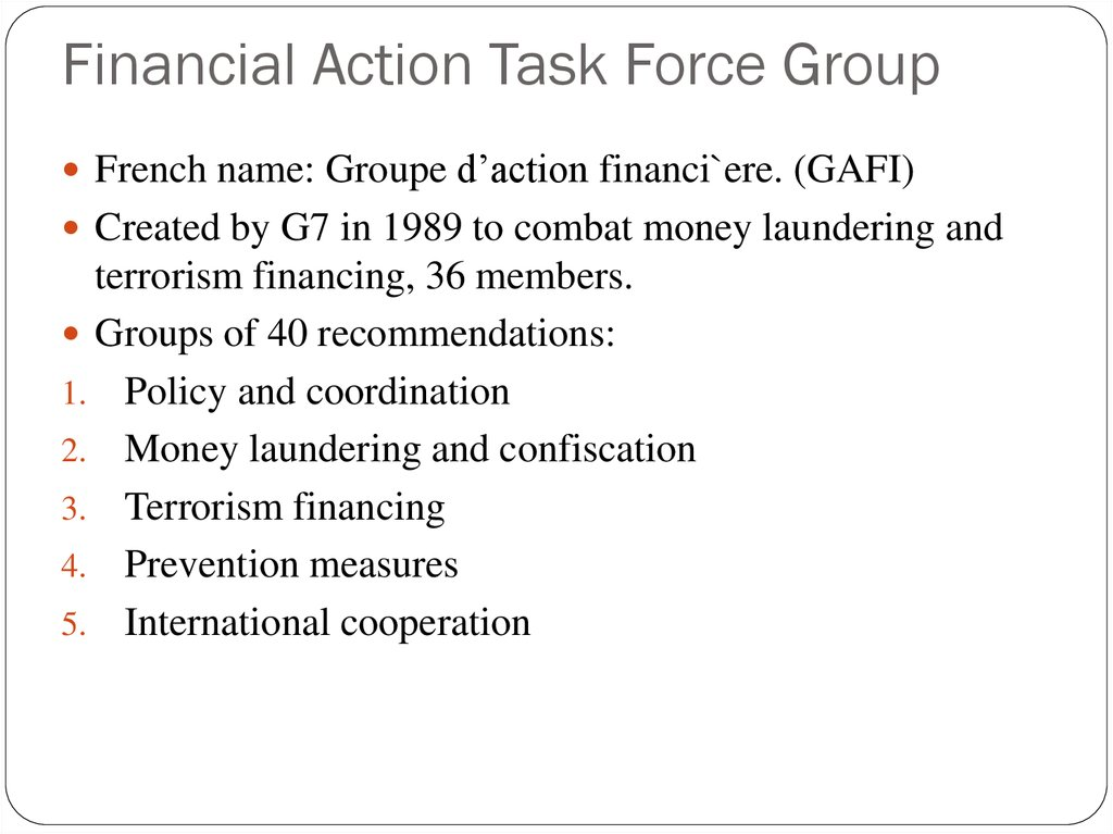 Financial Action Task Force Group