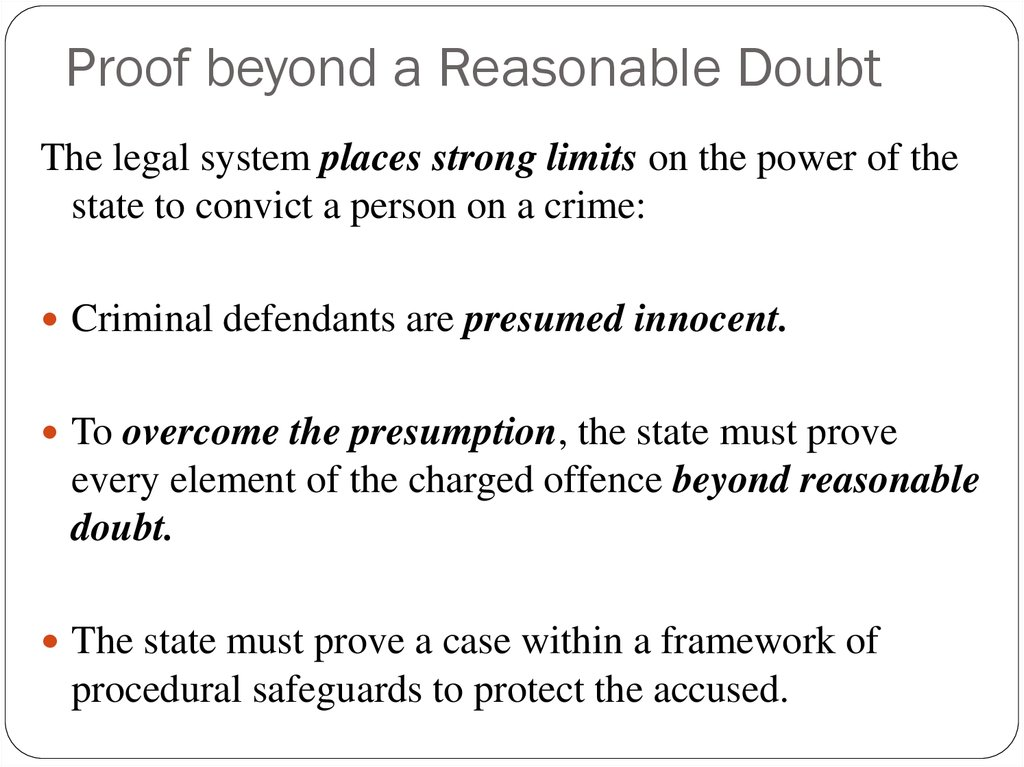 Proof beyond a Reasonable Doubt