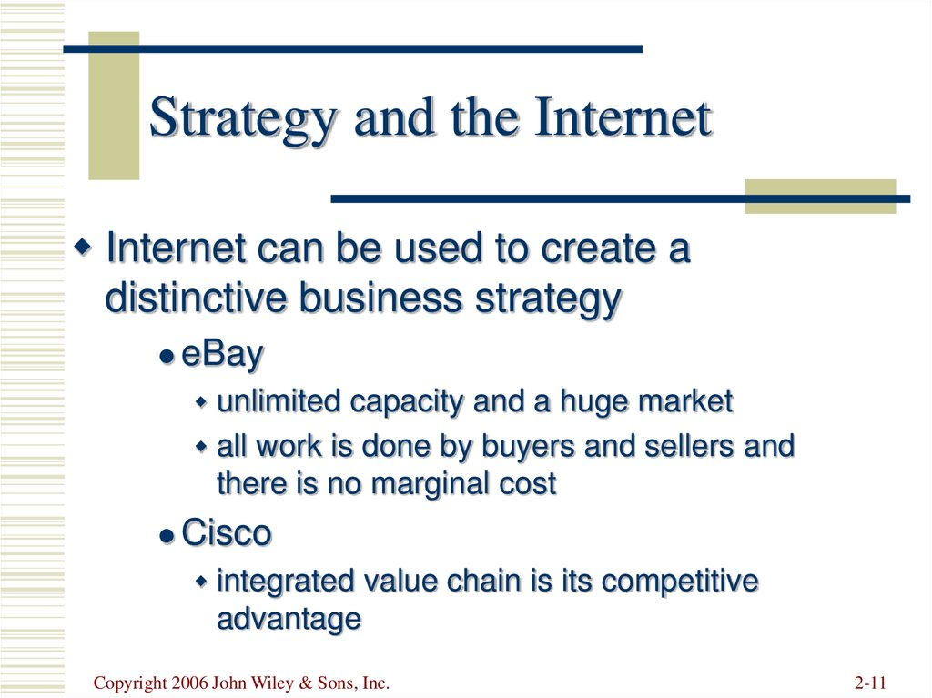 Strategy and the Internet