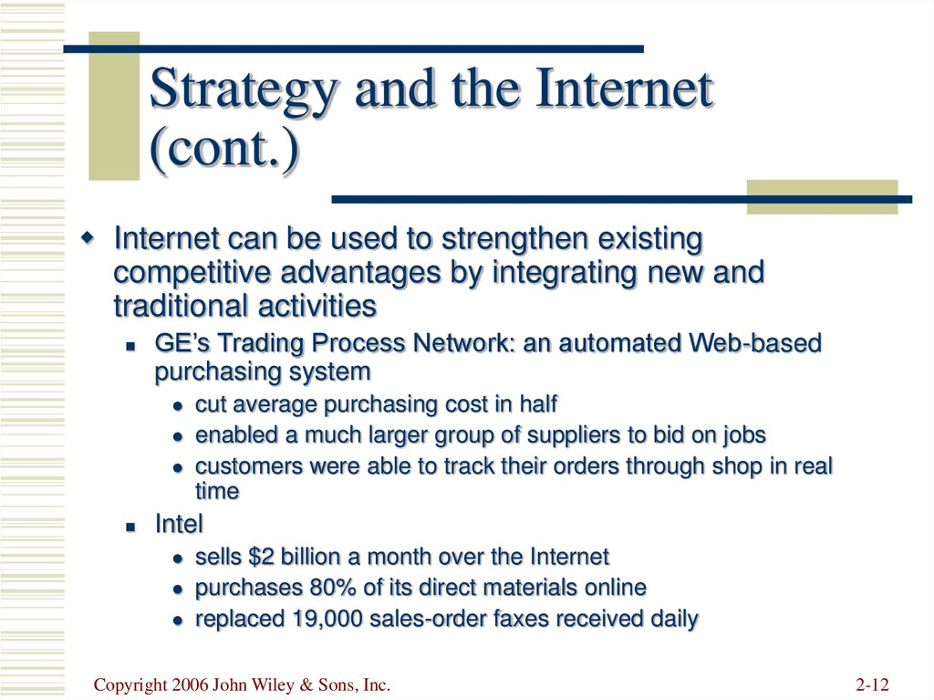 Strategy and the Internet (cont.)