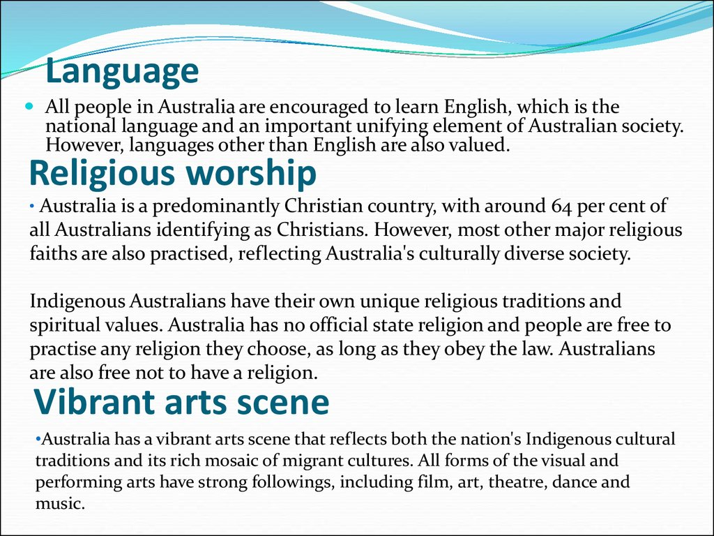 Australian Culture And Customs Language Arts