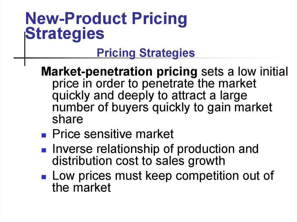 product pricing strategy Finding a price for your product can be difficult, but with a good pricing strategy, there are many methods you can use to get the job done.