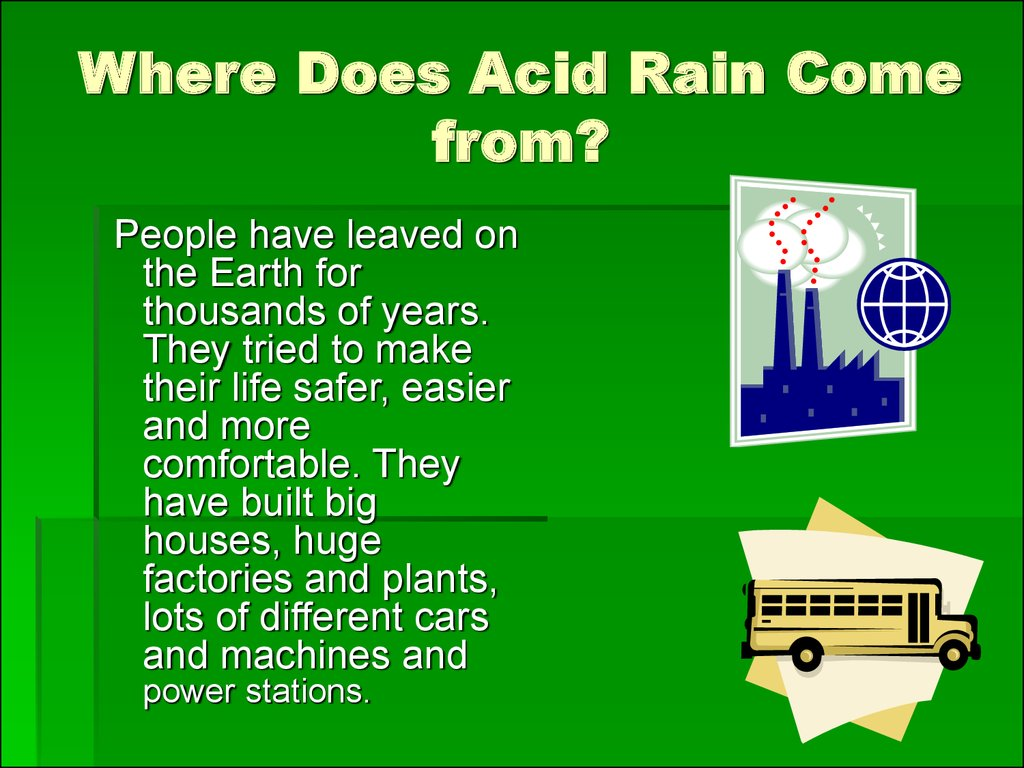 Where Does Acid Rain Come from?