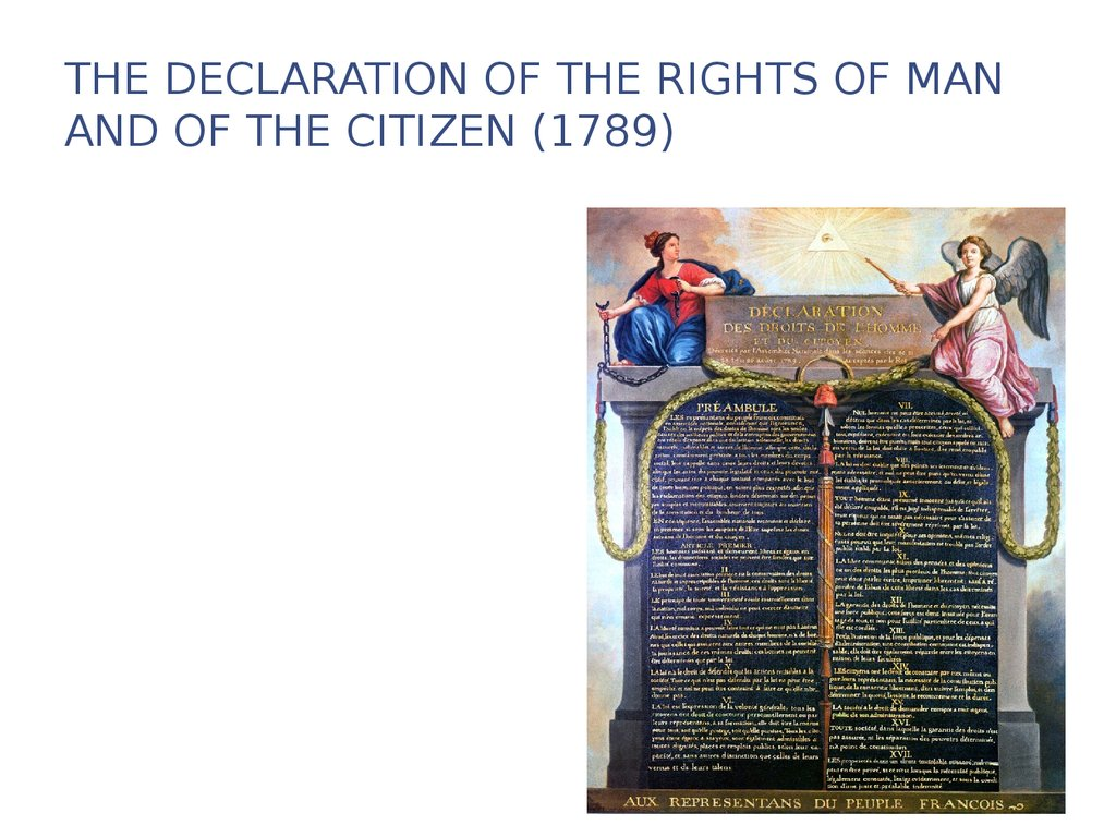 an introduction to the declaration of the rights of man and the citizen in 1789