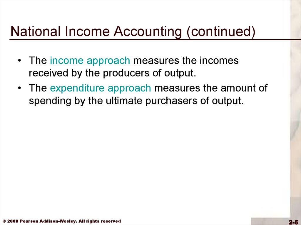 measurement of national income The three major methods of measuring national income are (1) net output method, (2) factor-income method and (3) expenditure method.
