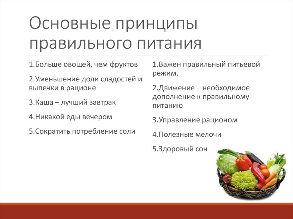 Принцип Похудения На Правильном Питании. Золотые принципы правильного питания для снижения веса