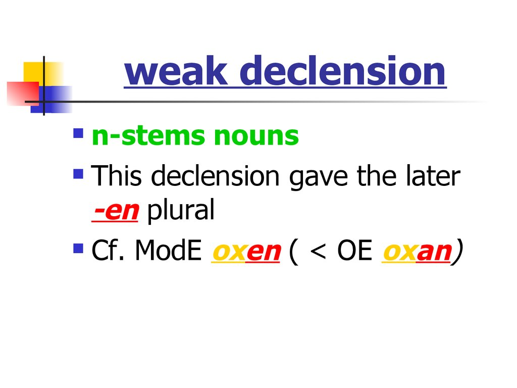 weak declension