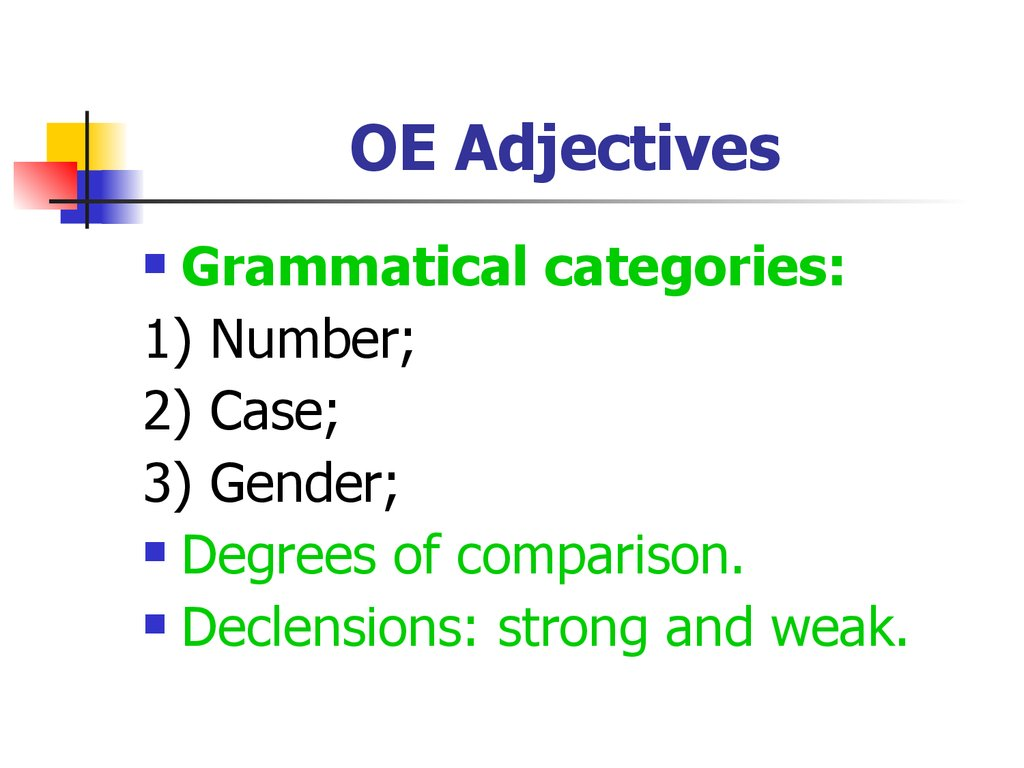 OE Adjectives