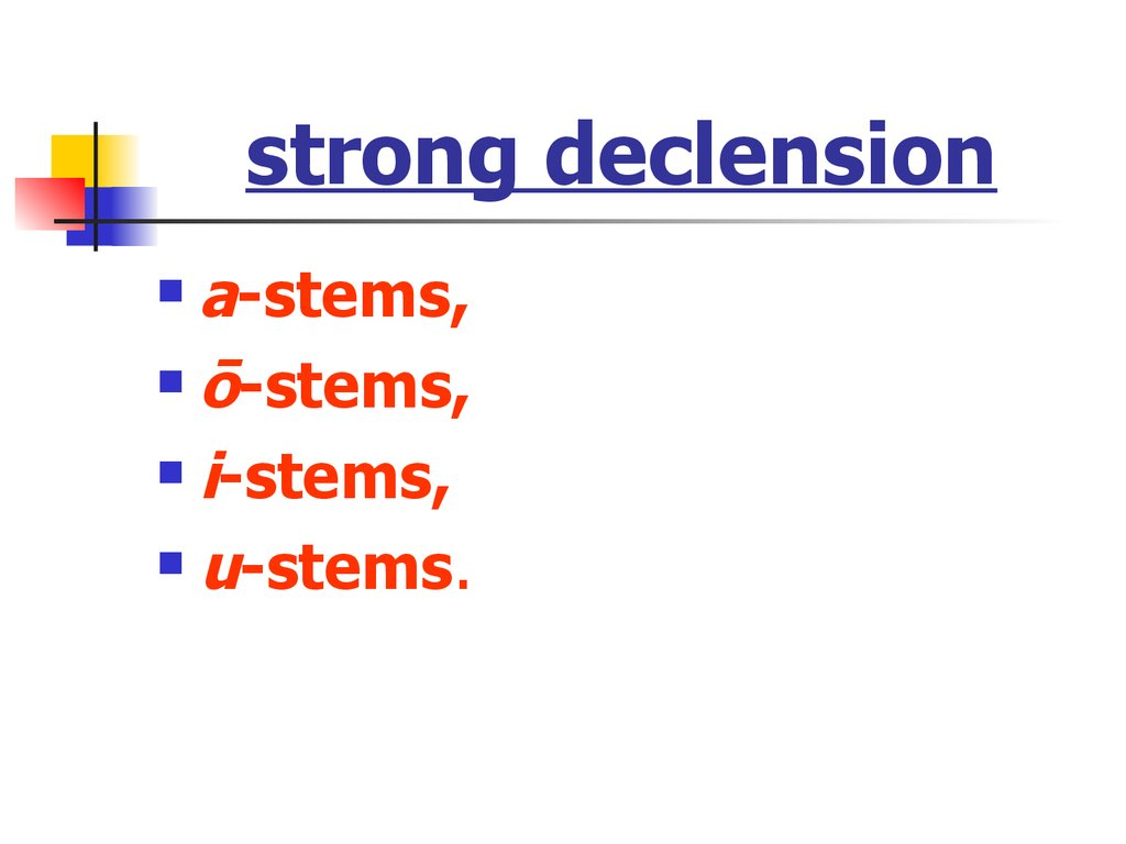 strong declension