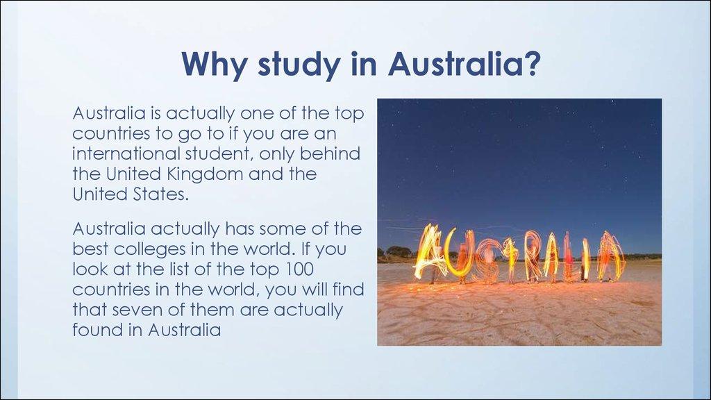 Higher Medical Education In Australia презентация онлайн