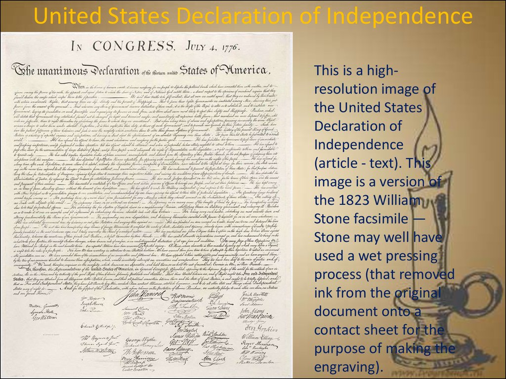 united states declaration of independence and Independence day, also referred to as the fourth of july or july fourth, is a federal holiday in the united states commemorating the adoption of the declaration of independence on july 4, 1776.
