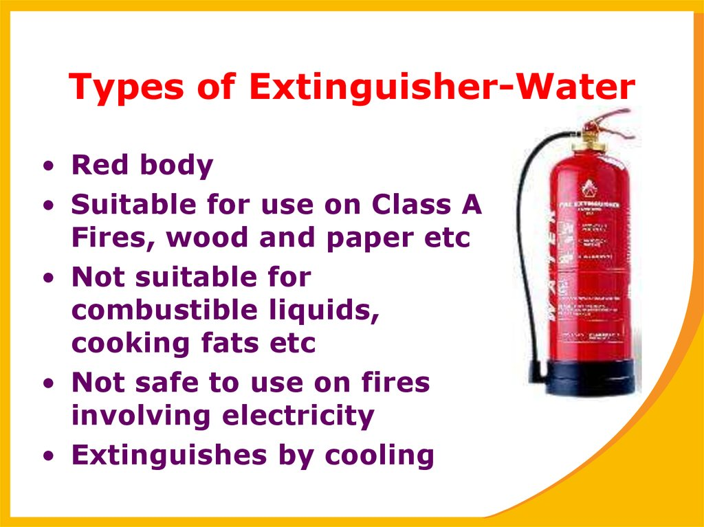 Types of Extinguisher-Water
