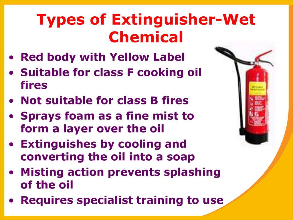 Types of Extinguisher-Wet Chemical