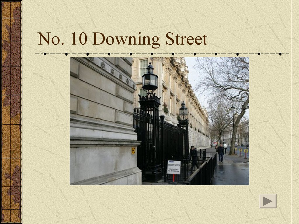 No. 10 Downing Street