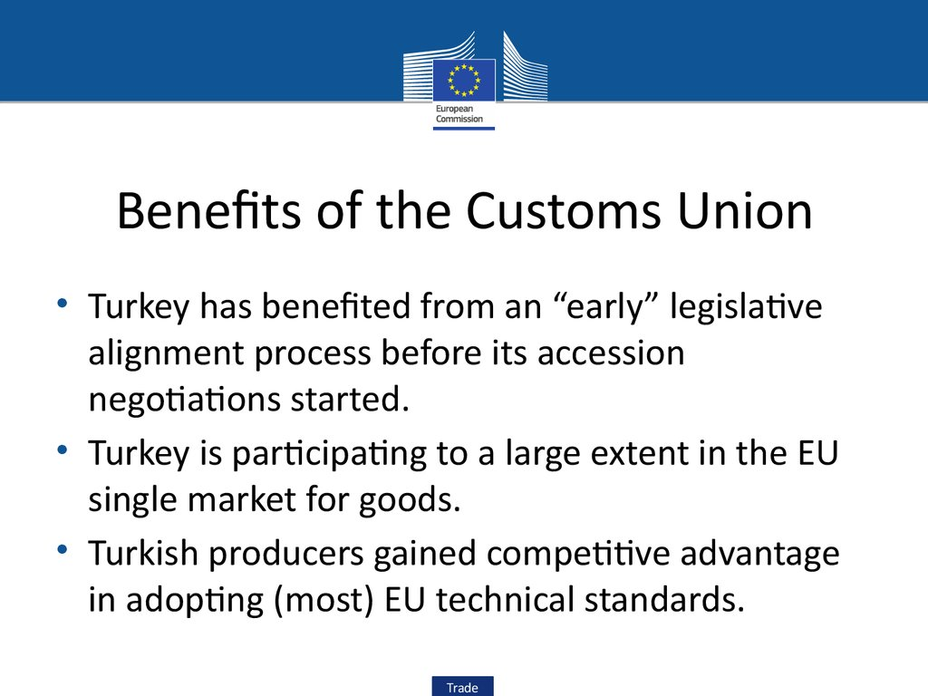 Benefits of the Customs Union