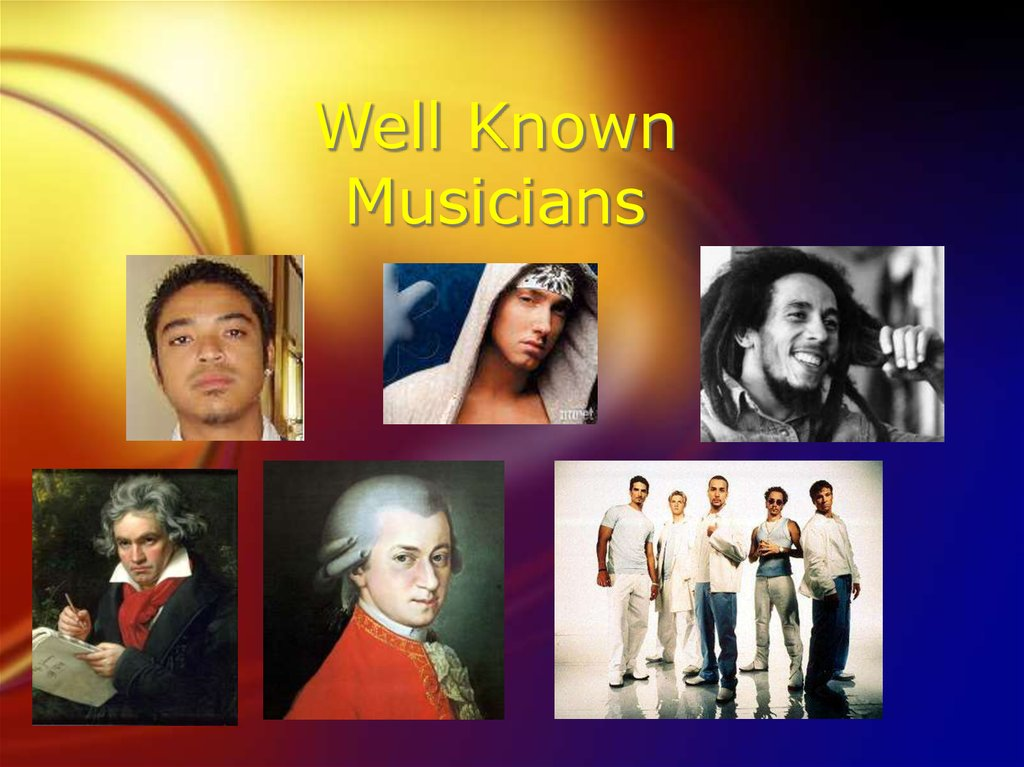 Well Known Musicians