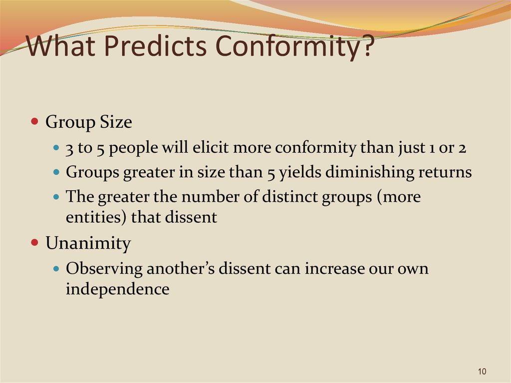 What Predicts Conformity?
