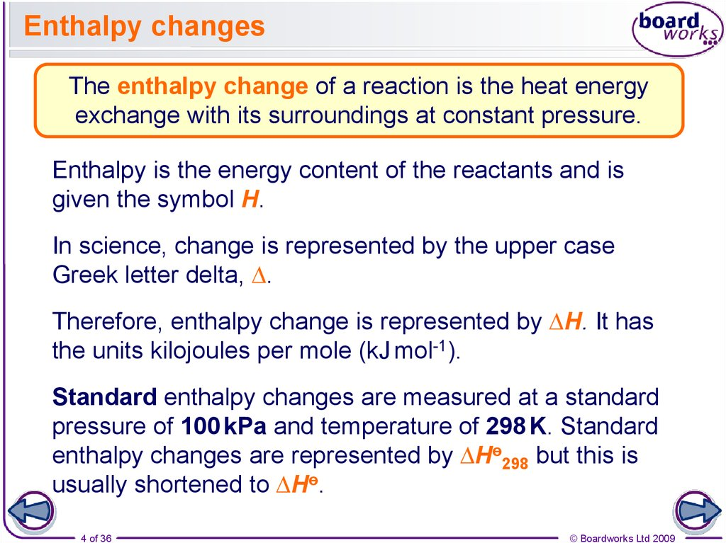 What is enthalpy? - online presentation