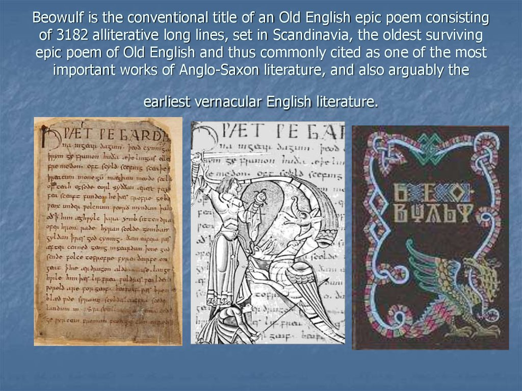 the portrayal of evil and good in beowulf an epic poem Beowulf, the epic poem about a beowulf the epic poem english poet which suggest his christian influence on the poem the poet is portrayed as being a.
