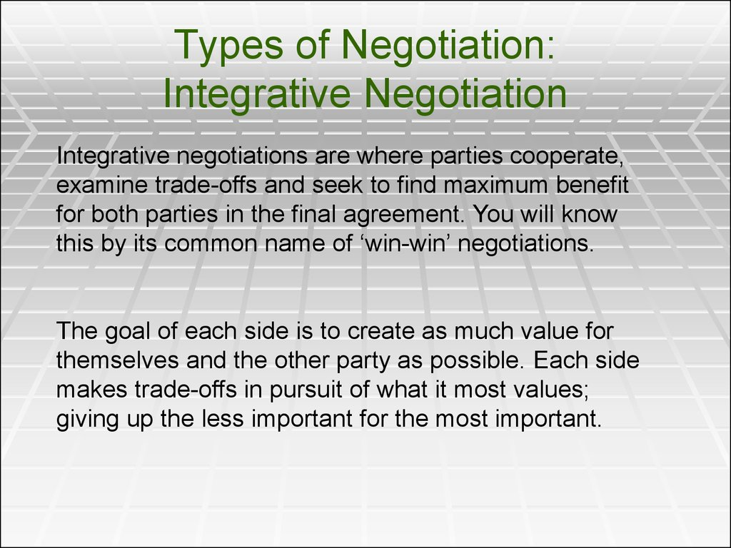 an analysis of the types of negotiation and its importance in business With the rapidly changing world of the business and economics the art of the negotiation is also becoming more and more volatile and evaporative.