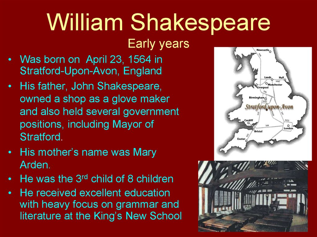 William Shakespeare Early years